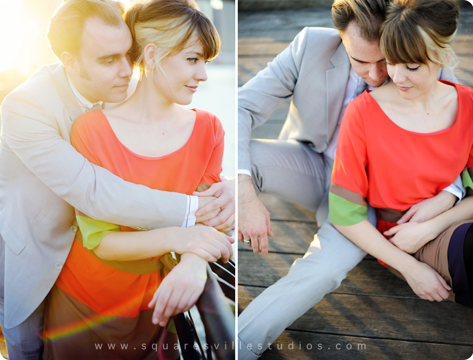 nyc modern engagement session