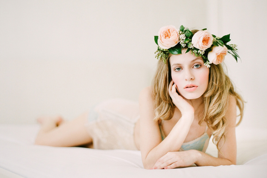 ethereal boudoir session on film by Squaresville Studios