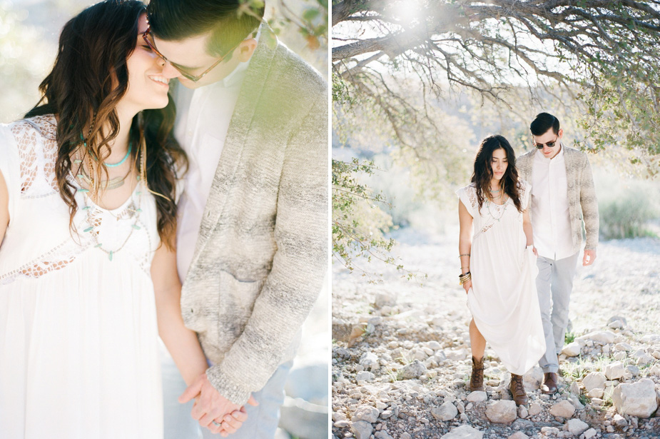 engagement session on film at red rock canyons in las vegas nevada by destination phtotographer Maria Hibbs of Squaresville Studios
