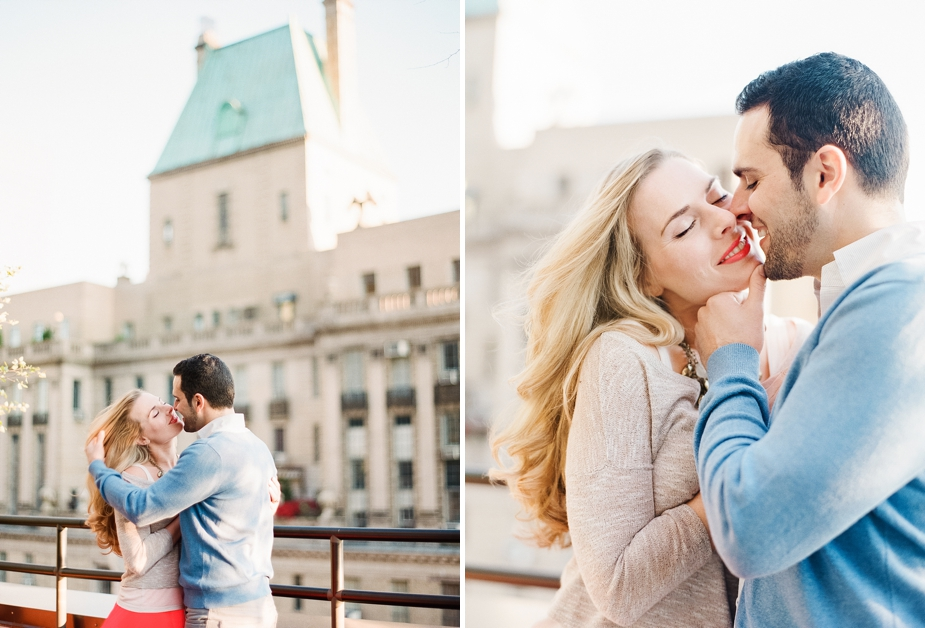 New York Rooftop Film Engagement Session | by Squaresville Studios